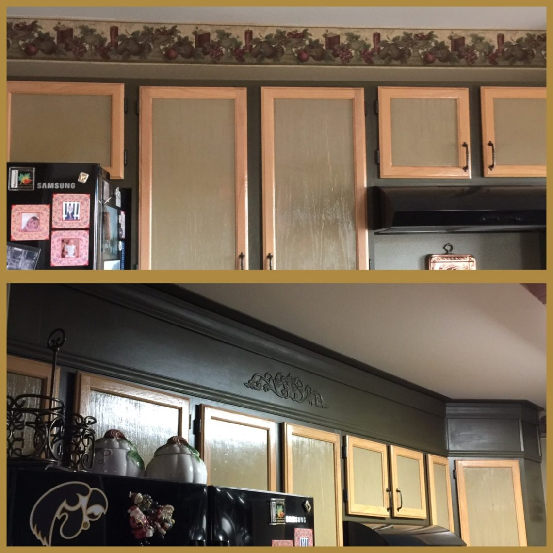 Update the space above kitchen cabinets | My Perpetual Project